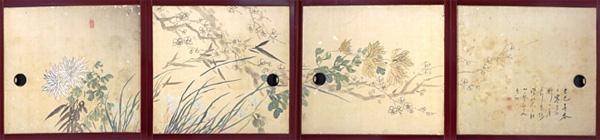 渡辺小華画「花卉図」